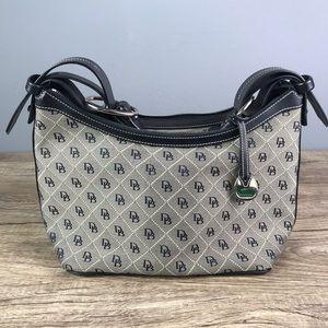 Dooney & Burke Black/Cream Monogrammed Handbag